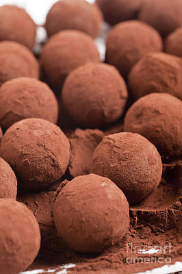 Cocoa Powder Photograph - Chocolate Truffles With Cocoa Powder  by Ilan Amihai