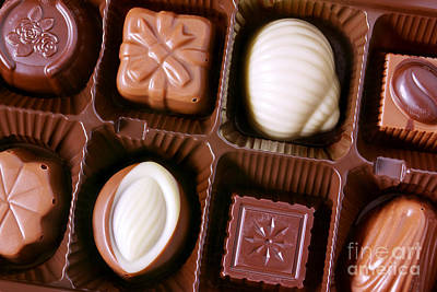 Packaging Photograph - Chocolates Closeup by Carlos Caetano