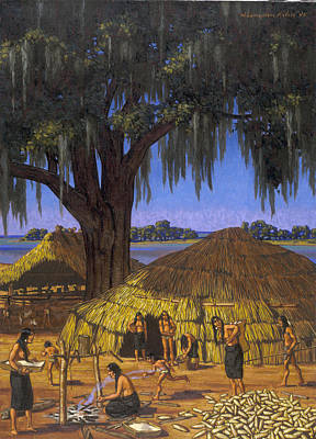 Choctaw Photograph - Choctaws In Louisiana Bayou Country by W. Langdon Kihn