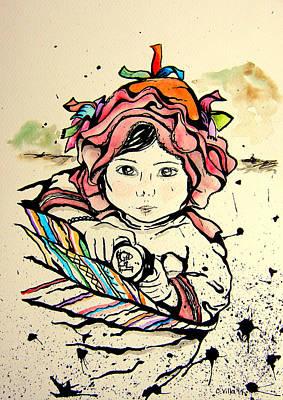 Cholita En Hombros Original by Carolina Villa