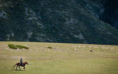 Mountain Photograph - Chon Ak Su by Konstantin Dikovsky
