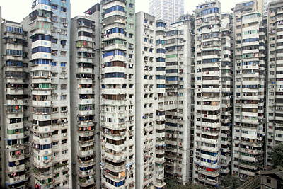 Photograph - Chongqing Residential Buildings by Valentino Visentini