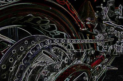 Tron Mixed Media - Chopped An Tron'd by Travis Crockart