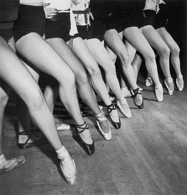 Human Limb Photograph - Chorus Girls by Fpg