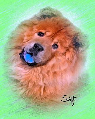 Chow Chow Painting - Chow Chow by Char Swift