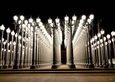 Photograph - Chris Burden's Lights Two by Endre Balogh