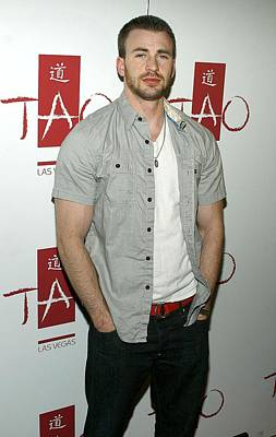 Chris Evans At Arrivals For Tao Partner Art Print by Everett