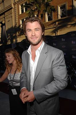 Chris Hemsworth At Arrivals For Captain Art Print by Everett