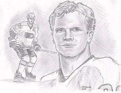 Philadelphia Flyers Drawing - Chris Pronger by Chris  DelVecchio