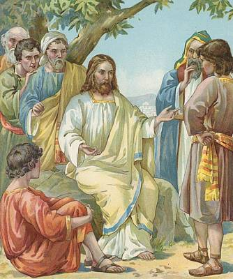 Christ And His Disciples Art Print by Ambrose Dudley