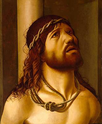 Christ At The Column Art Print by Antonio de Saliba