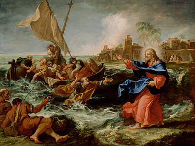 Christ At The Sea Of Galilee Art Print by Sebastiano Ricci