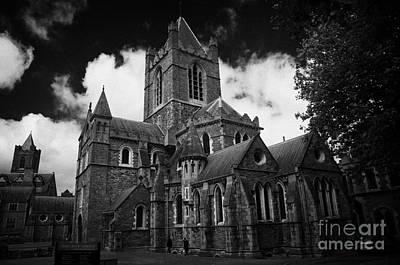 Holy Trinity Cathedral Photograph - Christ Church Cathedral Cathedral Of The Holy Trinity Church Of Ireland Dublin City Center by Joe Fox