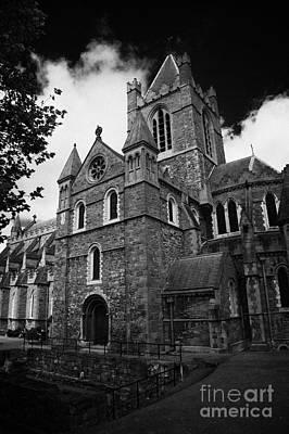 Holy Trinity Cathedral Photograph - Christ Church Cathedral Cathedral Of The Holy Trinity Church Of Ireland In Dublin City Center by Joe Fox
