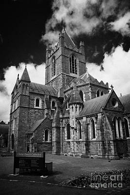Holy Trinity Cathedral Photograph - Christ Church Cathedral Christchurch Holy Trinity Dublin Ireland by Joe Fox