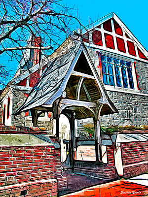 Boating Digital Art - Christ Church Of St Michaels by Stephen Younts
