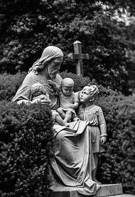 Photograph - Christ With Children by Kelly Rader
