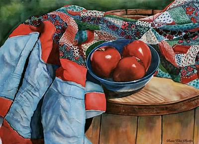 Painting - Christa's Quilt by Susan Elise Shiebler