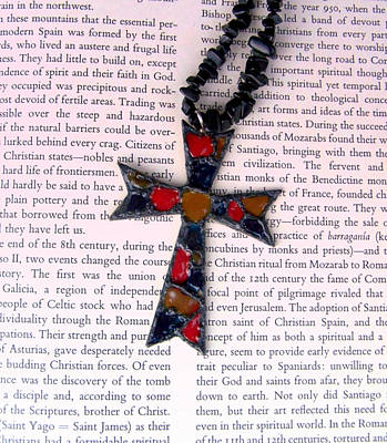 Christian  Cross Art Print by Cynthia Amaral