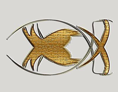 Christian Fish Art Print by Carolyn Marshall
