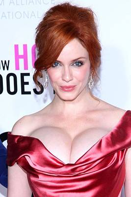 Christina Hendricks At Arrivals For I Art Print