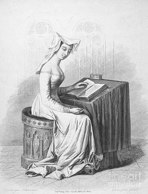 Christina Drawing - Christine De Pisan by Granger