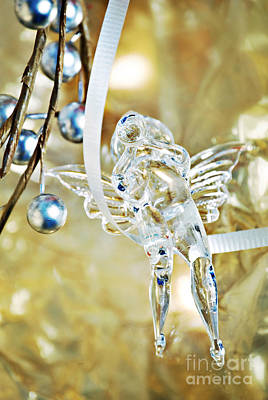 Glasswork Photograph - Christmas Angel by HD Connelly