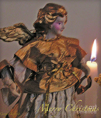 Photograph - Christmas Angel Pastel by George Tuffy