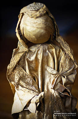 Gold Lame Photograph - Christmas Angel by Vicki Jauron