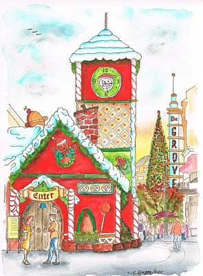 Christmas At The Grove - Los Angeles - California Print by Carlos G Groppa
