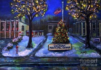 Christmas At The Municipal Center Art Print by Rita Brown