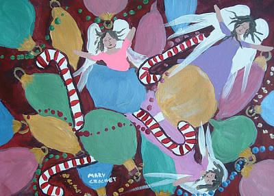 Christmas Bulbs Art Print by Mary Crochet