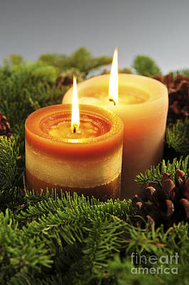 Christmas Candles Art Print