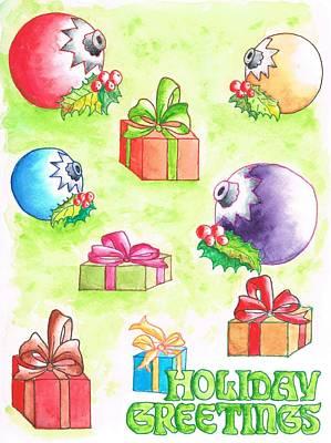 Christmas-card Art Print
