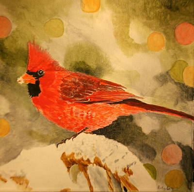 Painting - Christmas Cardinal by Betty-Anne McDonald