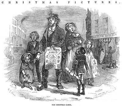 Christmas Carolers, 1874 Art Print by Granger