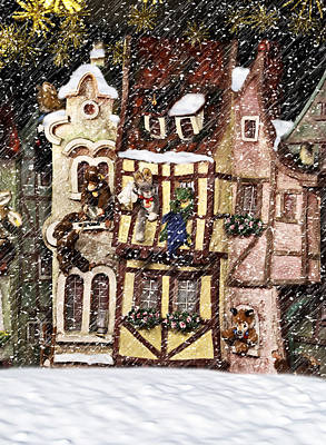 Christmas Cottage Art Print