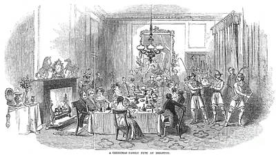 Photograph - Christmas Dinner, 1846 by Granger
