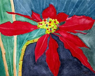 Christmas Flower Art Print by Charlotte Hickcox