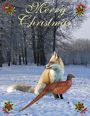 Mixed Media - Christmas Fox by Eric Kempson