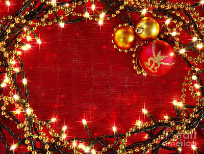 Colorful Beads Photograph - Christmas Frame by Carlos Caetano