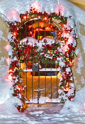 Christmas Gate Art Print