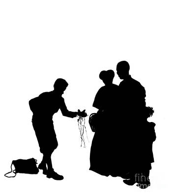 african american family painting christmas gift a silhouette 1a by reggie duffie