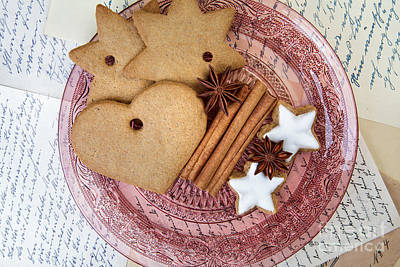 Cookies Photograph - Christmas Gingerbread by Nailia Schwarz