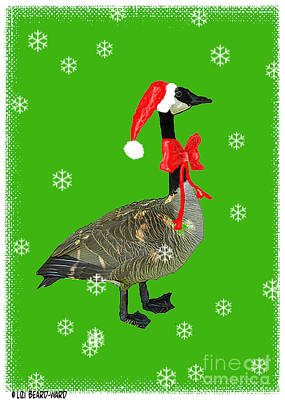 Digital Art - Christmas Goose by Lizi Beard-Ward