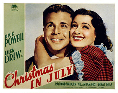 Sturges Photograph - Christmas In July, Dick Powell, Ellen by Everett