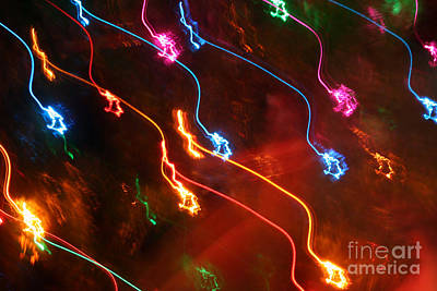 Photograph - Christmas Light Abstract by Susan Stevenson