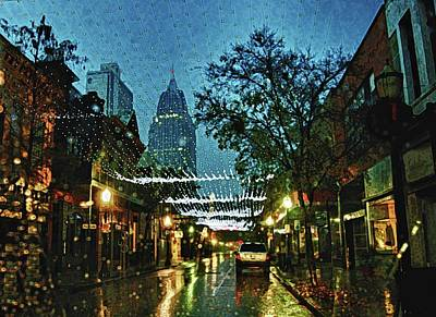 Old Town Digital Art - Christmas Lights Down Dauphin Street by Michael Thomas