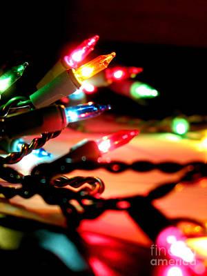 Photograph - Christmas Lights  by Elena Elisseeva