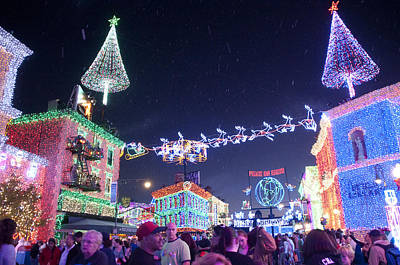 Photograph - Christmas Lights Street by Charles  Ridgway